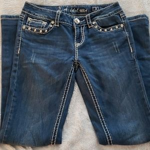 LA Idol Jeans with embellished bling pockets